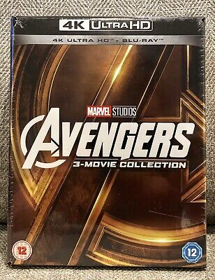 AVENGERS TRILOGY DIGIPACK 4K UHD + blu ray 3-MOVIE COLLECTION [U.K.] NEW SEALED