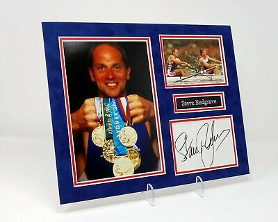 Steve Redgrave Signed Mounted Photo Display AFTAL COA Olympic Gold Medal Winner