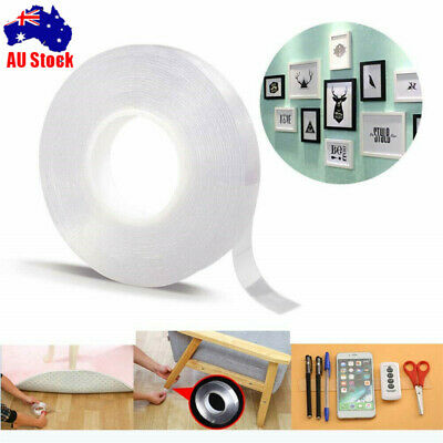AU Multifunctional Double-Sided Adhesive Tape Traceless Washable Removable TH@@