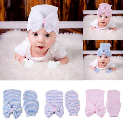 59a11df7b BEAUTIFUL NEWBORN BABY Girl Knit Hat With Bow & Sequins & Bright ...