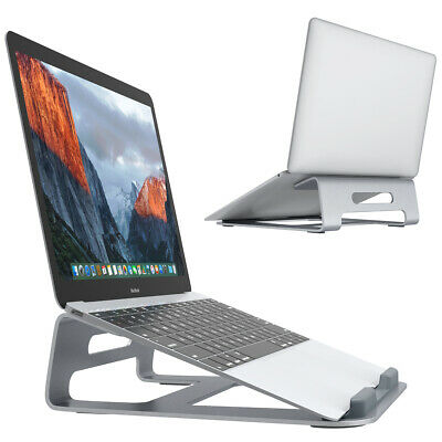 "Aluminium Wedge Laptop Computer Riser Cooling Stand for 11""-15.4"" Laptop Tablet"