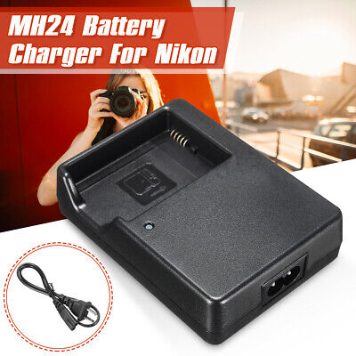 MH24 Battery Charger Black For Nikon EN-EL14 EL14a D5200 D5300 D3100 D3200 D3300