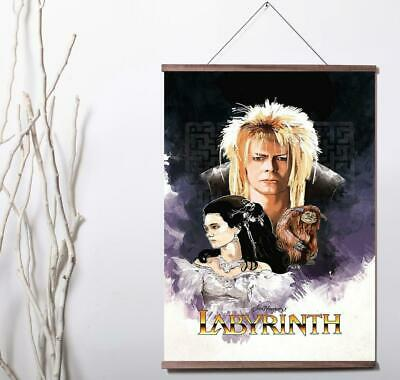 Labyrinth Poster 1986 Classic Movie David Bowie Canvas Poster Room Decoration Wall Paiting Pictures Unframed