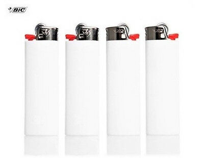 Classic Full Size White BiC Lighters - A Lot Of 4