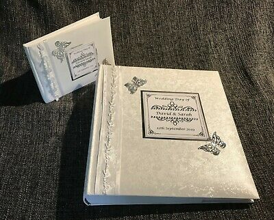 Personalised Large White Wedding Album & GUEST BOOK   #PG3