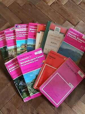 Vintage Ordnance Survey Maps - LISTING IS FOR ONE MAP ONLY - Ideal for Crafts