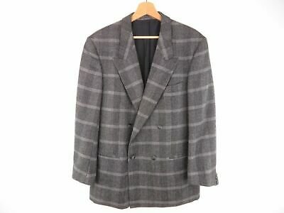AT4230 J G'S VINTAGE BLAZER ORIGINAL WOOL CHECK GREY DOUBLE BREASTED size 50