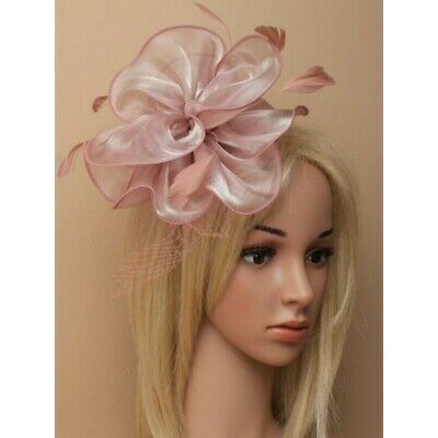 Pink Feather Aliceband Hat Fascinator Ladies Day Races Ascot Weddings