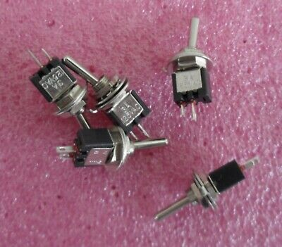 AC250V 3A 120V 5A R9Z8 5 x On//Off Small Toggle Switch Miniature SPST 6mm