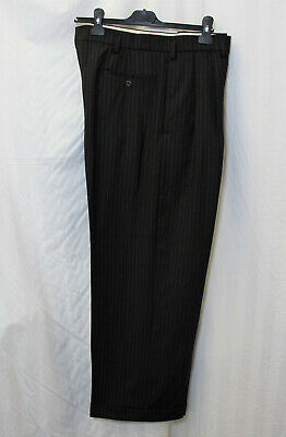 Mens 1940s Oxford Bags Trousers WWII reenactment 40's WW2 40s Charcoal Pinstripe