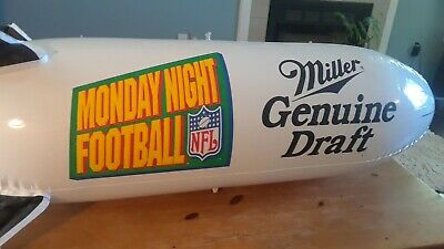 Inflatable MILLER GENUINE DRAFT / MONDAY NIGHT FOOTBALL blow up blimp beer ad