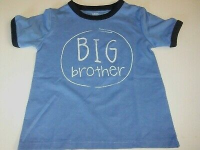 NWT Toddler Boys 18, 24 Mo, 2T, 3T, 4T, 5T BIG BROTHER Shirt Blue Short Sleeves