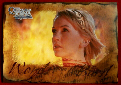 Quotable XENA - Words from the Bard - Individual Chase Card B9 - Being A Warrior
