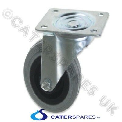 """Uni Unbraked Catering Equipment Square Fixing Plate Castor Wheel 100Mm(4"""")"""