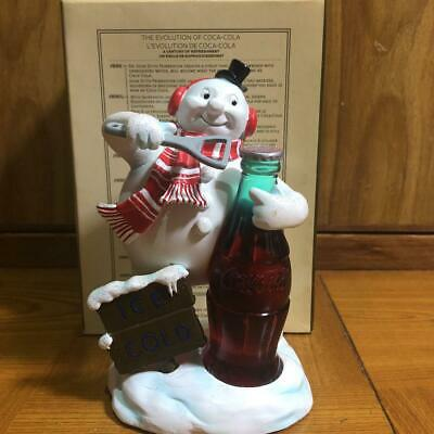 Coca Cola 140 mm Vintage Ornament Snowman Figurine Coke Very Rare From Japan M4