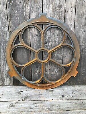 Large Round Window frame in a antique style circular cast iron with rust 71.5cm