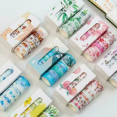 5 Rolls/set Washi Tape Scrapbooking DIY Masking Tape -Paper- Decorative I8D9
