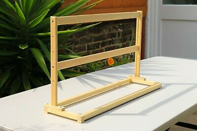 A2 Wooden Picture Frame Table Stand - Pine Easel Art Table Picture Display Stand