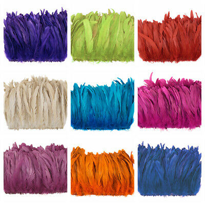 "ROOSTER COQUE Tail Feathers 4-7""  Various Dyed Colors (Halloween/Crafts/Bridal)"