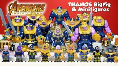 GIANT Avengers infinity war End Game Super Hero Marvel Thanos Fit Lego UK SELLER