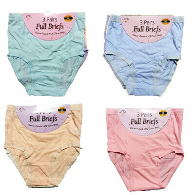 12 X Pairs Ladies  Girls Full Briefs 100% Cotton Mama Underwear Knickers Pants
