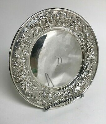 Kirk & Son Sterling Dessert Plate In Repousse Pattern