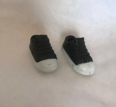 Barbie Sister Stacie Skipper Doll Shoes Flat Foot Athletic  Black Tennis Shoes
