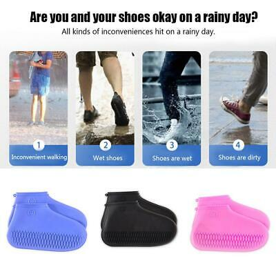 1 Pair Non-slip Reusable Shoe Cover Waterproof Silicone Rain Boots Overshoes
