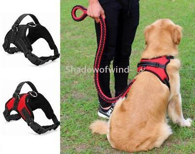 No Pull Pet Control Saddle Harness Mesh Heavy Duty Soft Adjustable with Handle