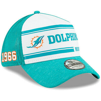 2019 Miami Dolphins New Era 39THIRTY NFL Sideline Home On Field Cap Hat Mesh