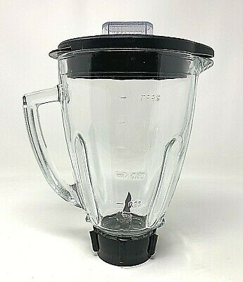 Osterizer Blender Replacement Glass 6 Cup Pitcher with Lid and Blade EUC