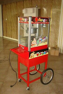 New Hot Electric 8 oz Popcorn Maker Machine / Display Cabinet Cart Cycle