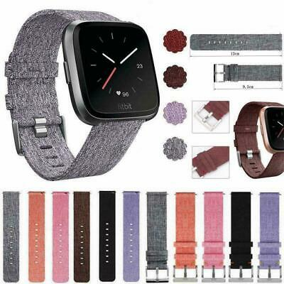 Woven Fabric Wrist Band Watch Bracelet Strap Accessories Versa n For Fitbit A3C7