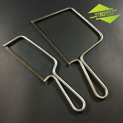 LOT X2 VINTAGE ECLIPSE No.27W & No.14J DEEP THROATED COPING SAW FRET SAW TOOLS