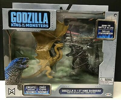 JAKKS GODZILLA KING OF THE MONSTERS & KING GHIDORAH Toy Figure Set 2019 Kids