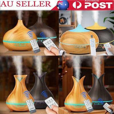 Air Humidifier Purifier Essential LED Oil Ultrasonic Aroma Aromatherapy Diffuser