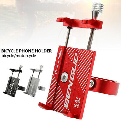 MTB Bike Bicycle Cell Phone Mount Holder Rack Aluminum Alloy Stand Motorcycle CA