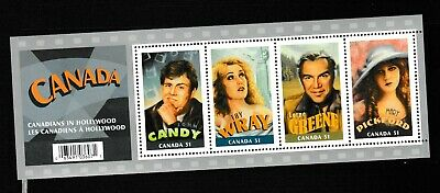 #1009=Canada 2006 MNH mini sheet of 4 stamps (Canadians in Hollywood)