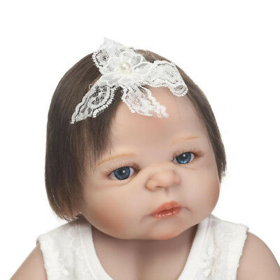 "22""Full Body Vinyl Silicone Reborn Baby Girl Doll Realistic Anatomically Correct"