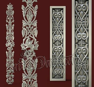 2 3D Models STL For CNC Router Artcam Aspire Door Furniture Decor Cut3D Vcarve