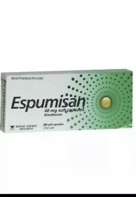 ESPUMISAN® Simethicone 40mg - Meteorism Stomach Aches Colic 50 Capsules Tablets