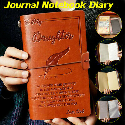 A6 To My Daughter Where Ever Love Engraved Leather Journal Notebook Diary Gift