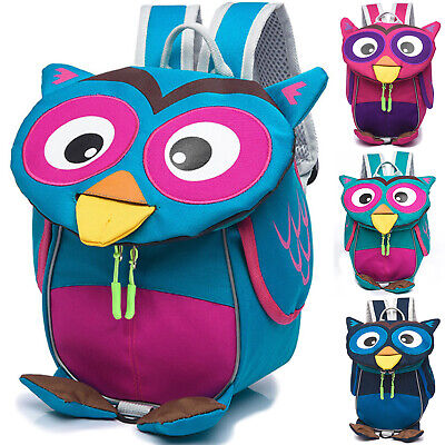 Anti-Lost Kid Cute Owl Safety Harness Rucksack Toddler Child School Backpack Bag