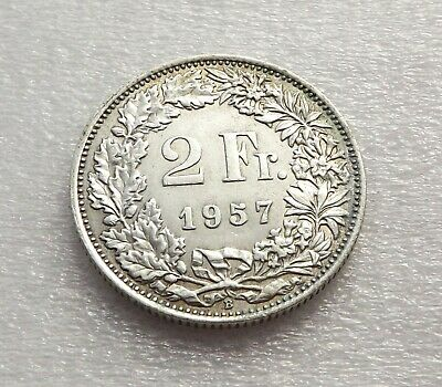 Switzerland 1957-B 2 Francs Silver VF C|6557