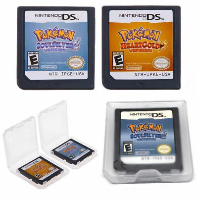 Pokemon SoulSilver / HeartGold Version Game Card Fits Nintendo 3DS NDSI NDS