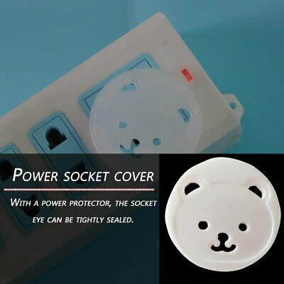 Children Cartoon Round Socket Cover Baby Anti-electric Shock Protection Cover T1