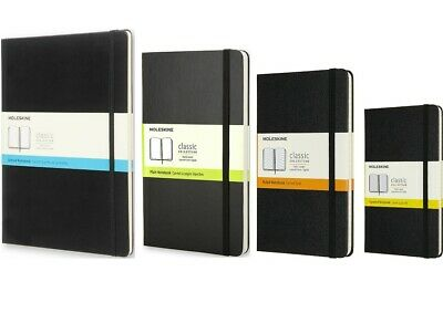 Moleskine Classic Notebook | Black Hard Cover | Dotted / Plain / Ruled / Squared