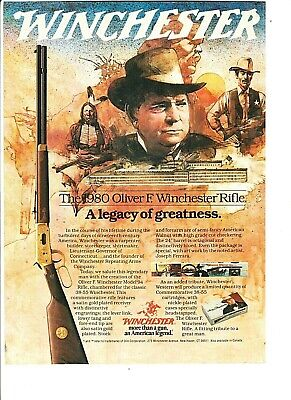 1980 WINCHESTER MODEL 94 Legendary Frontiersman and 190 Rifle AD