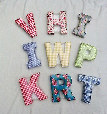 Mamas And Papas Fabric Padded Decorative Letter Wall Art Nursery Various New