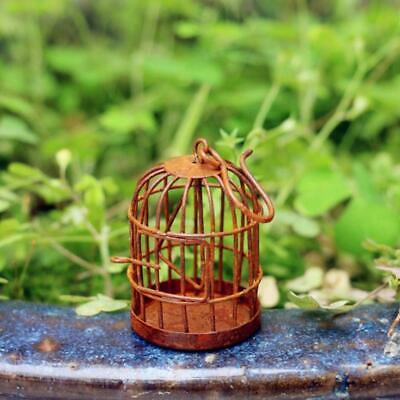 1:12 Scale Miniature Metal Bird Cage With Bird Birdcage for Dollhouse Decor Hot